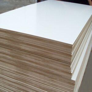 МДФ 1 ст  белый ламинат 2440X1220-18мм(FM)
